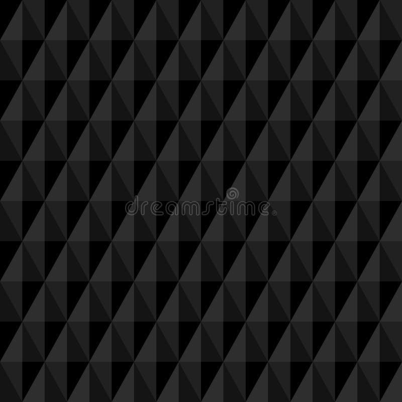 无缝的样式大垂直的金刚石黑色 皇族释放例证