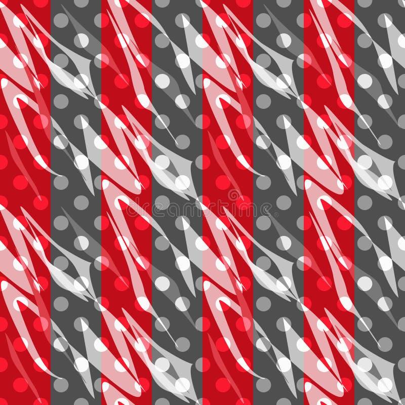 无缝的样式摘要圆点减速火箭的背景 库存例证