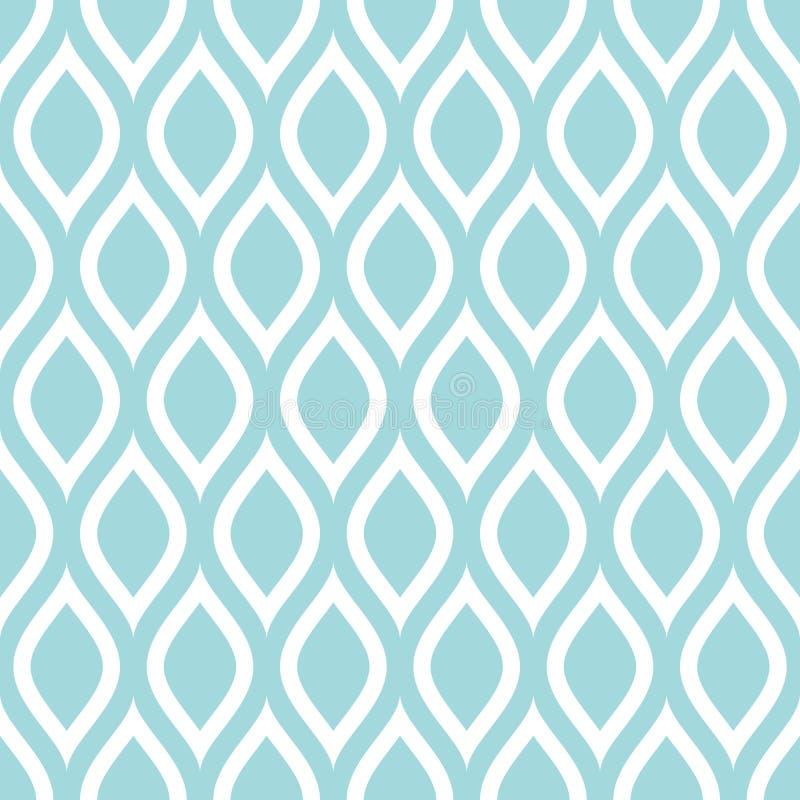 无缝的样式摘要柠檬或波浪绿松石正方形 库存例证