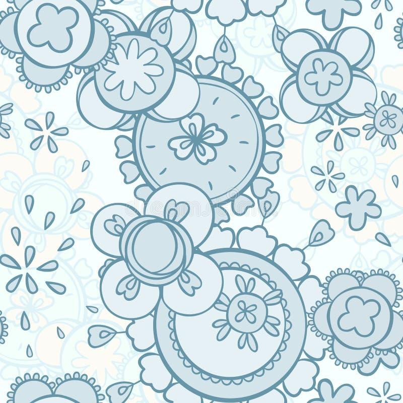 无缝的样式摘要花卉设计 免版税库存照片