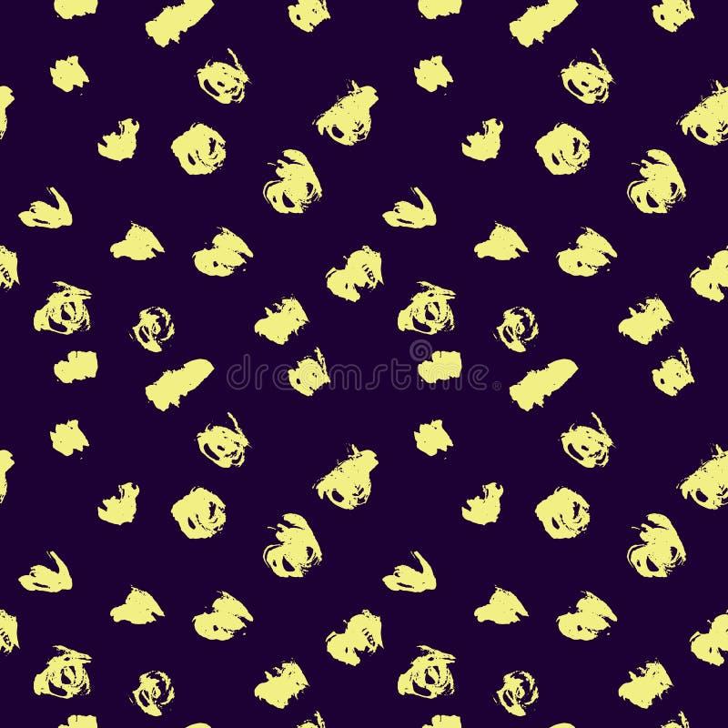 无缝的样式有手拉的蓝色和黄色背景 短上衣纹理 r 皇族释放例证