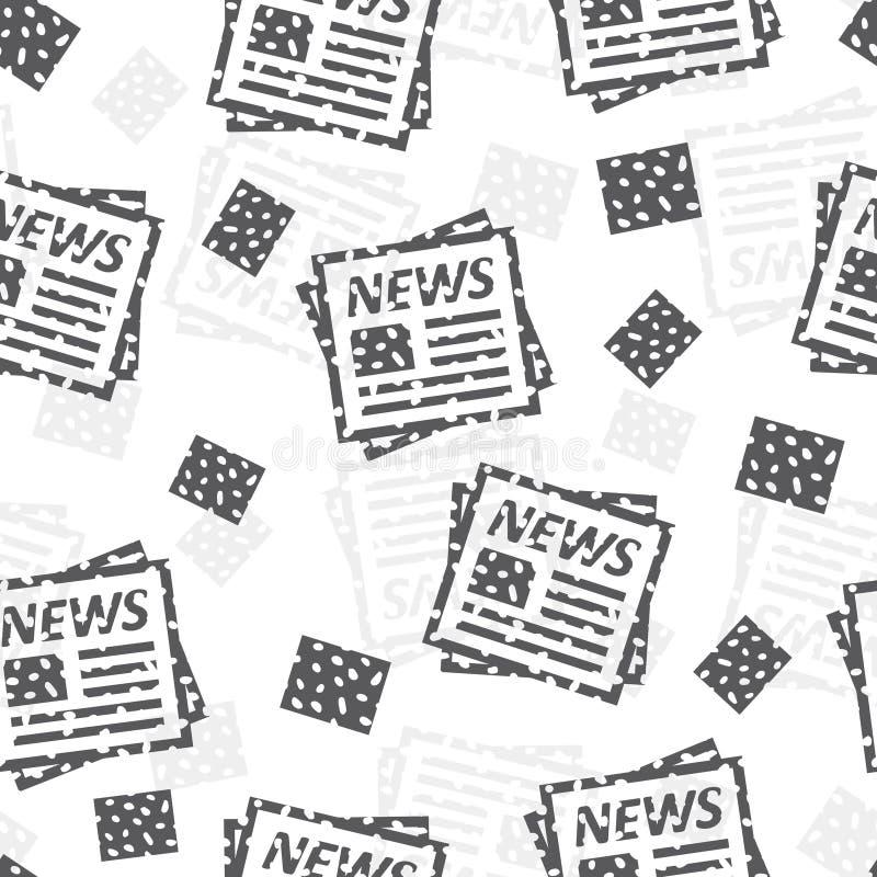 无缝的样式有报纸摘要背景 库存例证