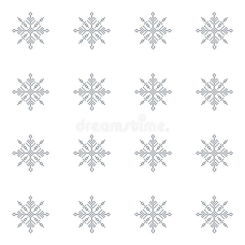 无缝的样式有抽象雪花轻的圣诞节背景 向量例证