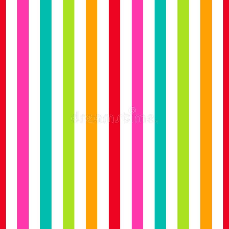 无缝的样式条纹五颜六色的淡色 垂直的样式条纹摘要背景传染媒介例证 库存例证