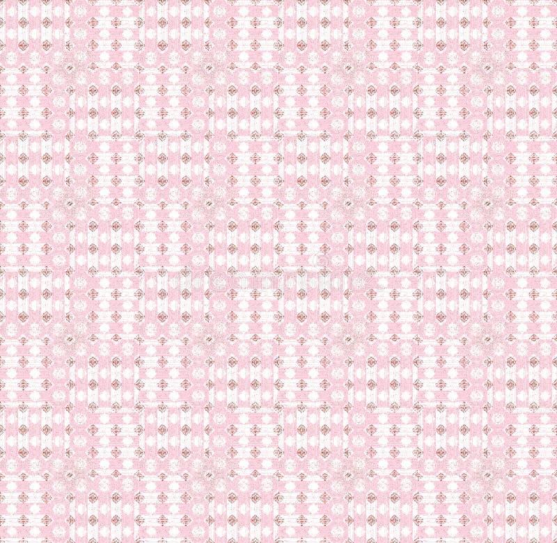 无缝的样式桃红色白色 库存例证