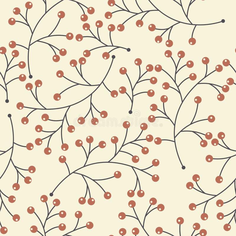 无缝的样式用装饰莓果 皇族释放例证