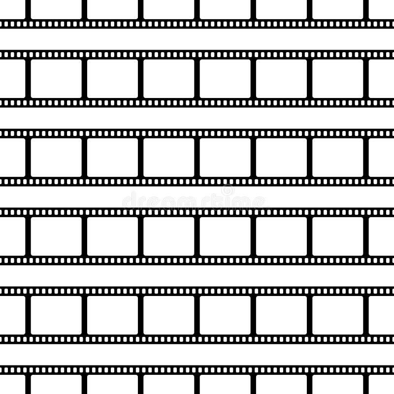 无缝的样式由影片条纹做成 库存例证