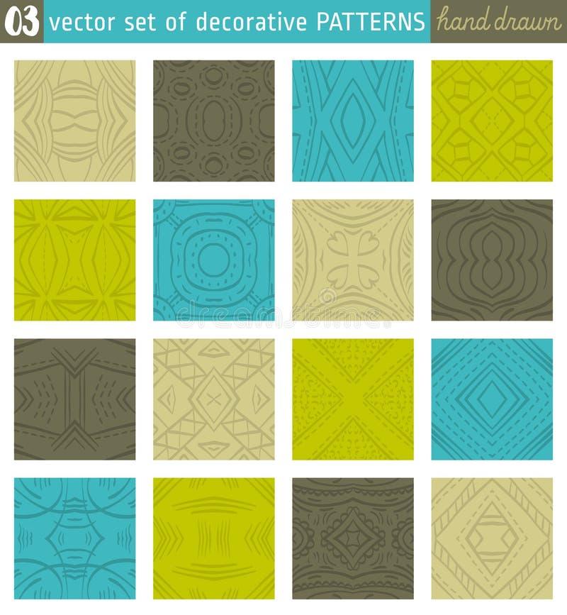 无缝的样式背景 打印的理想在织品上 向量例证