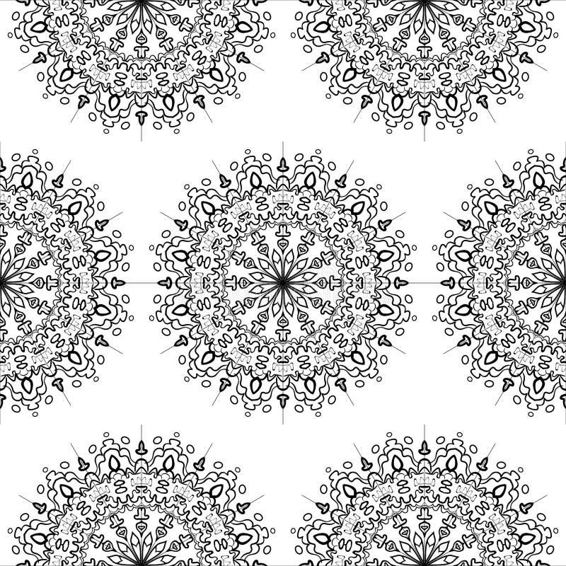 无缝的样式花坛场 装饰要素葡萄酒 向量例证