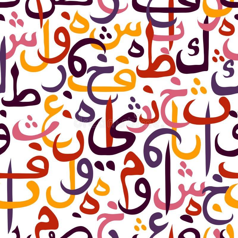 无缝的样式装饰品阿拉伯书法样式 库存例证