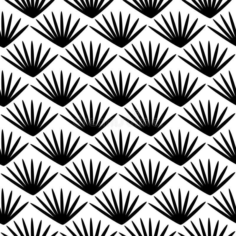 无缝的样式,几何装饰纹理 库存例证