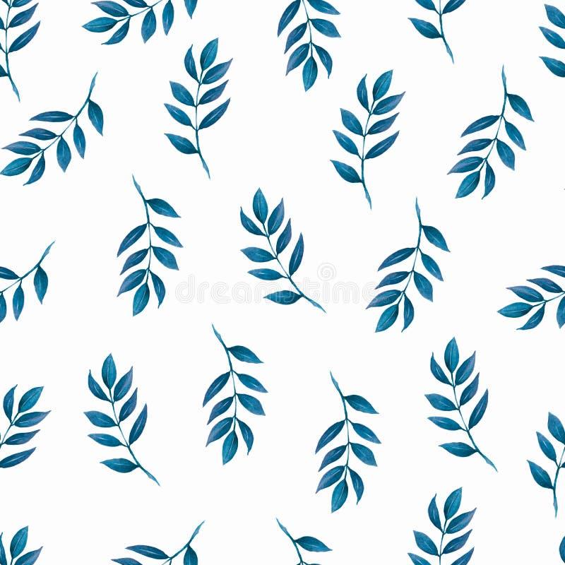 无缝的样式,背景,与轻的watercolo的纹理印刷品 库存例证