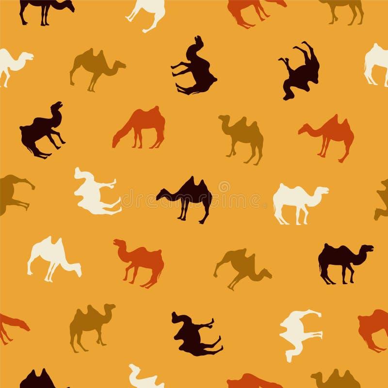 无缝的样式-骆驼 向量例证