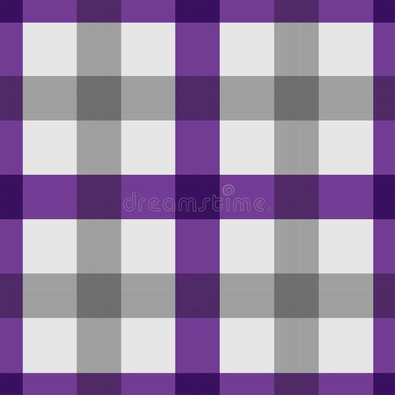 无缝的格子花呢披肩桌布样式背景,紫色,传染媒介例证 皇族释放例证