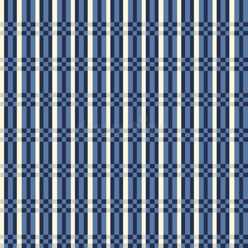 无缝的格子花样式 方格的织品纹理条纹 向量例证
