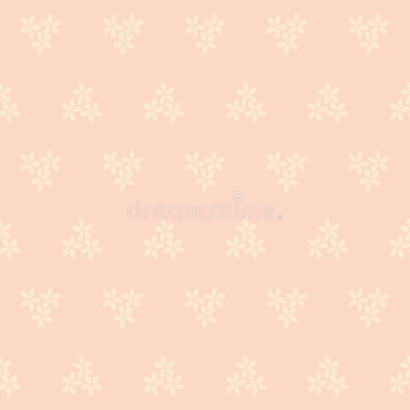 无缝的桃红色花背景 皇族释放例证