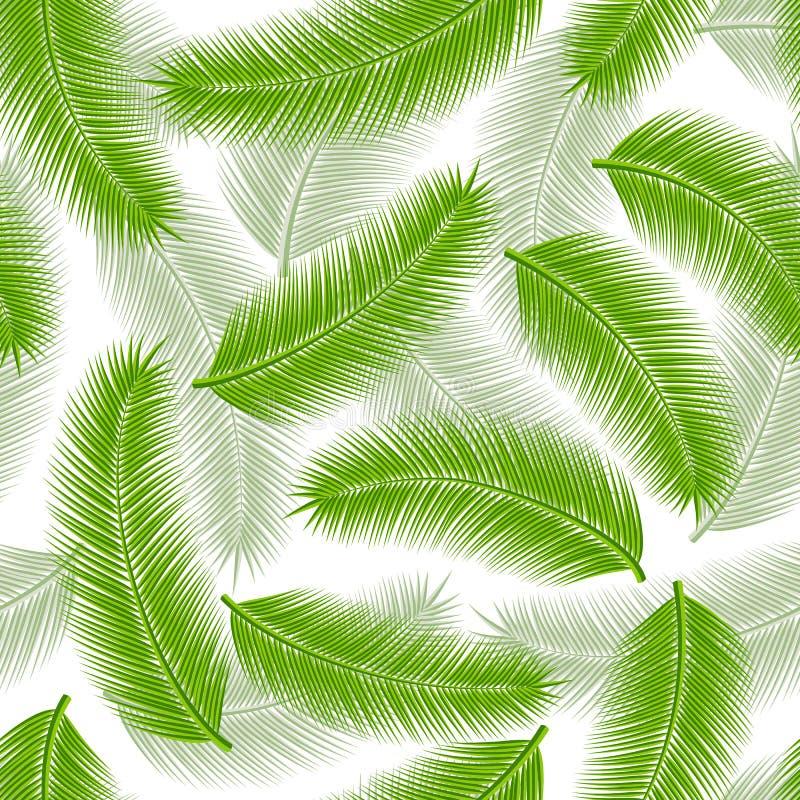 无缝的棕榈叶 向量例证