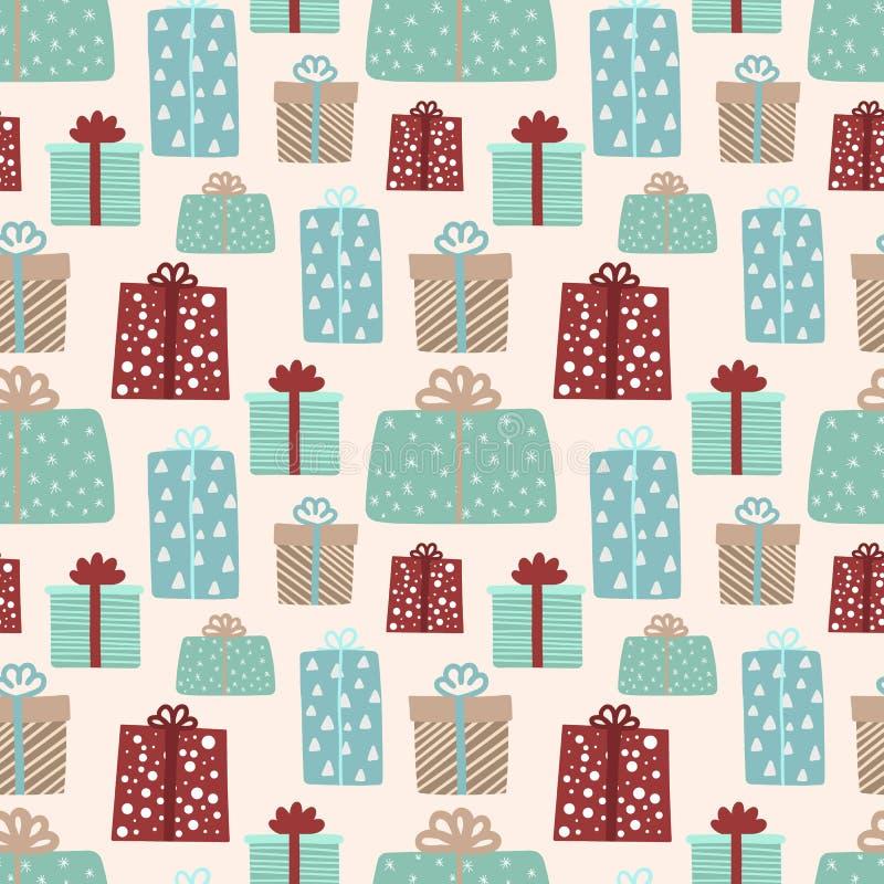 无缝的模式圣诞节和新年度 皇族释放例证