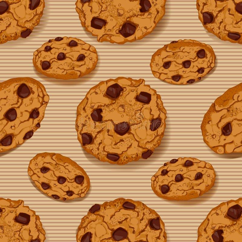 无缝的模式用曲奇饼 皇族释放例证