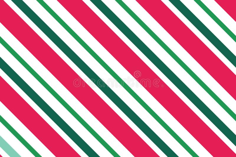 无缝的模式 在白色背景的桃红色红色条纹 与倾斜的线的镶边对角样式背景导航例证 库存例证
