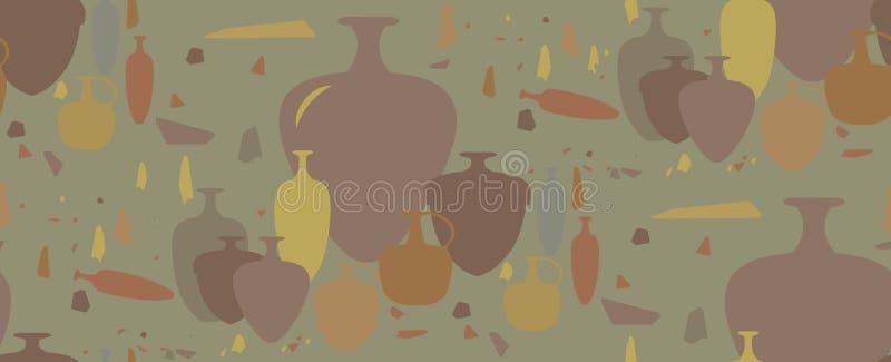 无缝的模式 油罐和陶瓷船 库存图片