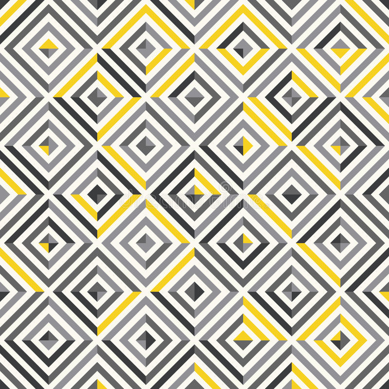 无缝的模式 现代时髦的纹理 重复有长方形元素的几何瓦片 皇族释放例证