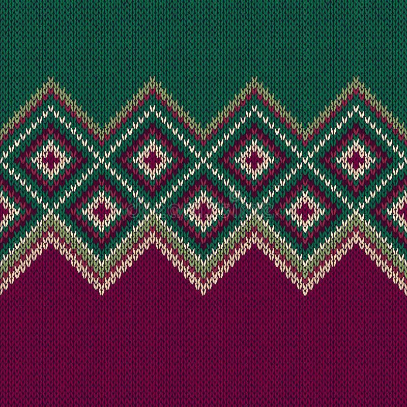 无缝的模式 编织羊毛时髦装饰品纹理 库存例证