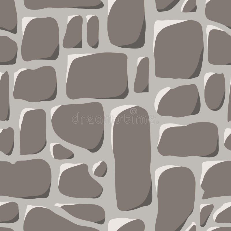 无缝的模式 鹅卵石路面 向量例证