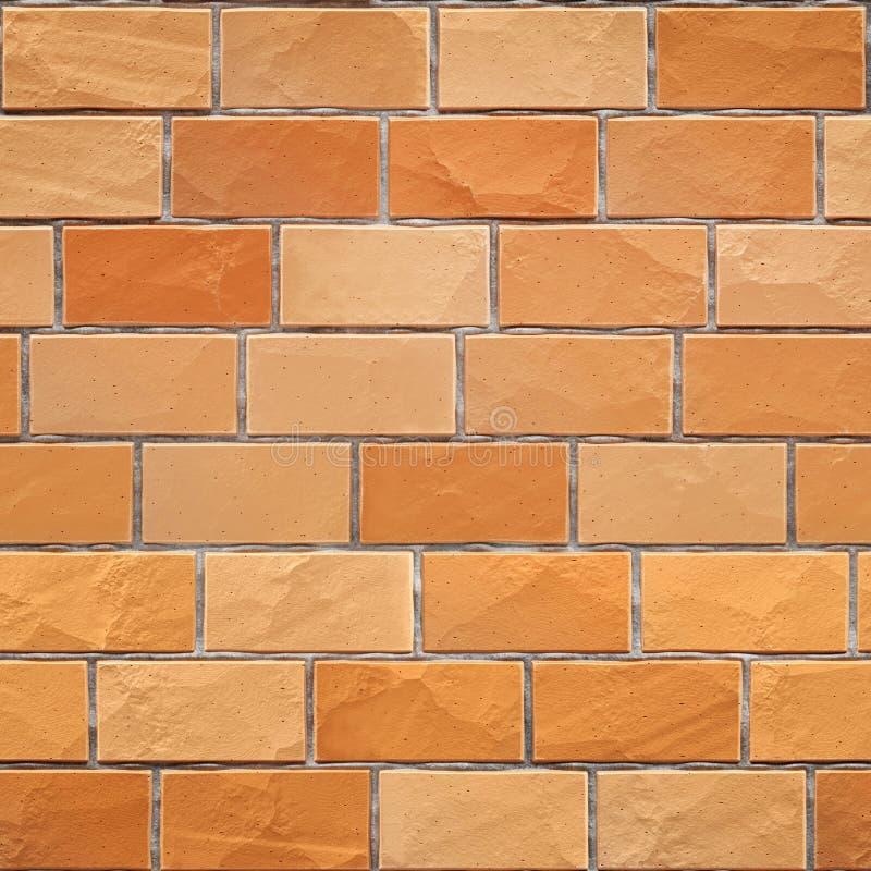 无缝的橙黄砖墙纹理 3d回报 皇族释放例证