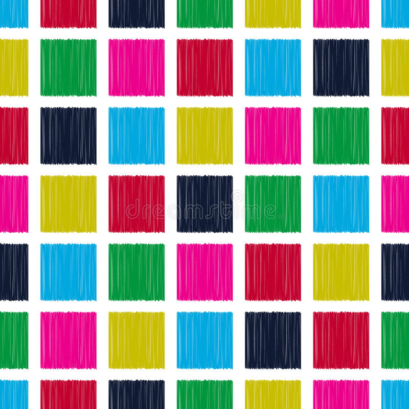 无缝的正方形铺磁砖样式 库存例证