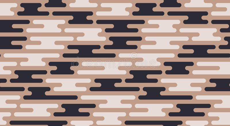 无缝的沙子伪装样式 传染媒介几何camo纹理 向量例证
