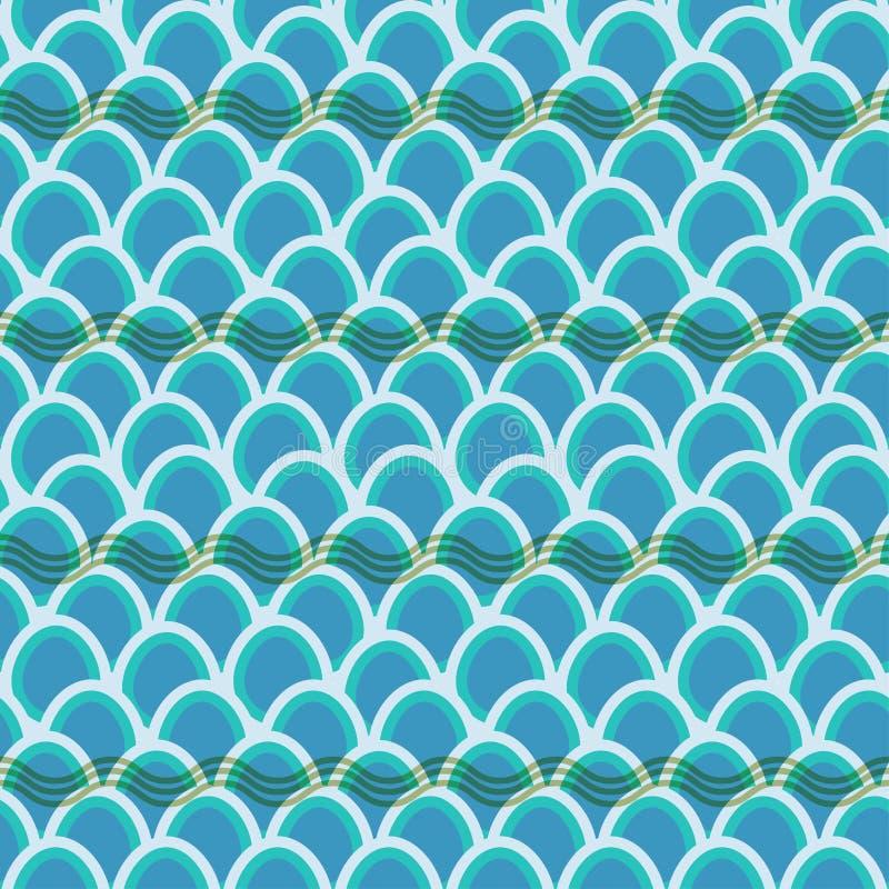 无缝的波动图式背景 库存图片