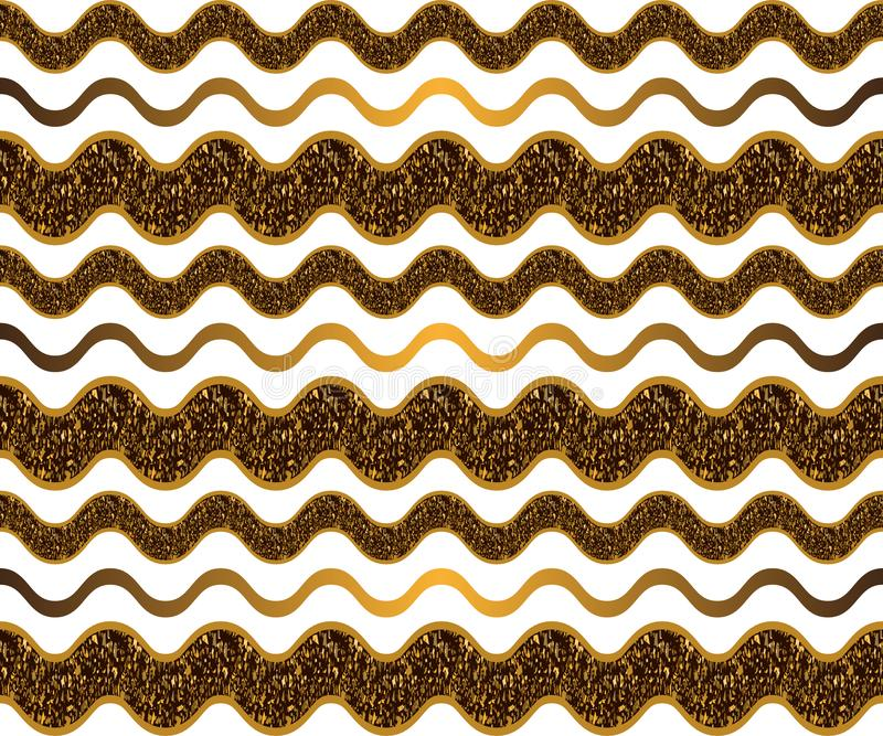 无缝的波浪纹理 向量例证