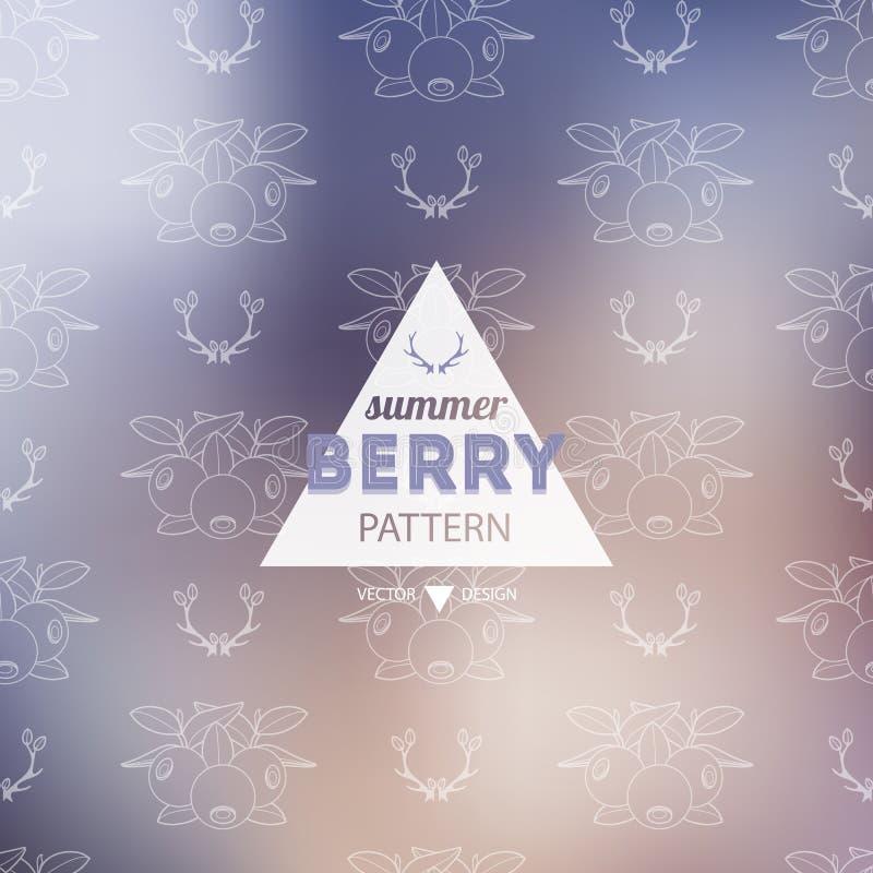 无缝的浆果模式 装饰背景莓果 向量 库存照片