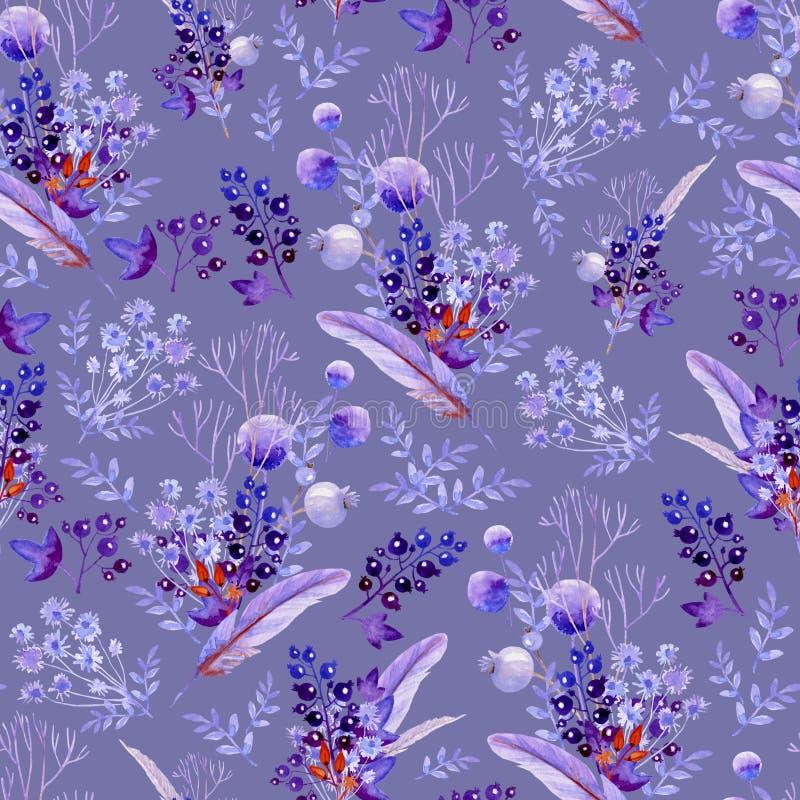 无缝的淡紫色花束 婚姻的设计的,艺术创作自然纹理 免版税库存照片