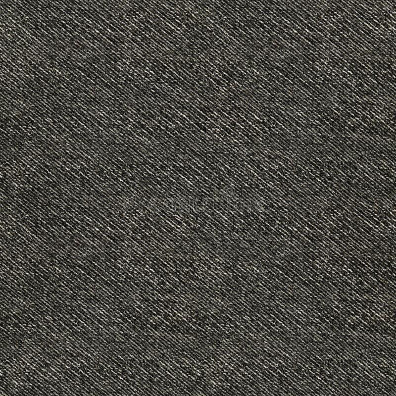 无缝的深灰牛仔布纹理 模式重复 皇族释放例证