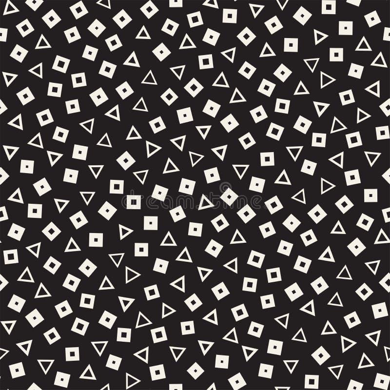 无缝的混乱样式 任意地疏散几何形状 减速火箭抽象背景的设计 皇族释放例证