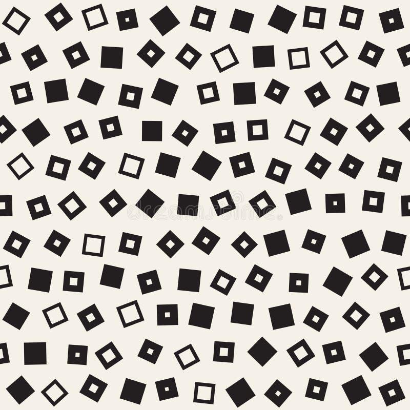 无缝的混乱样式 任意地疏散几何形状 减速火箭抽象背景的设计 向量例证