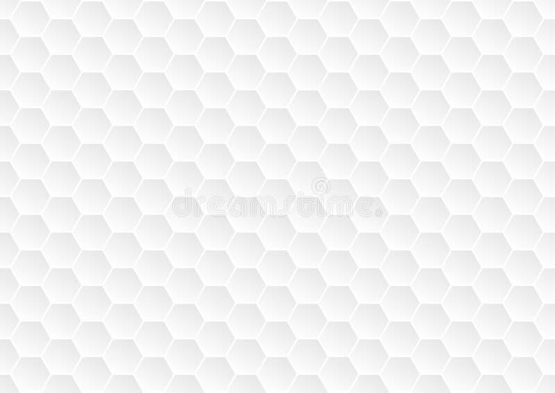 无缝的灰色六角形为抽象背景构造 皇族释放例证