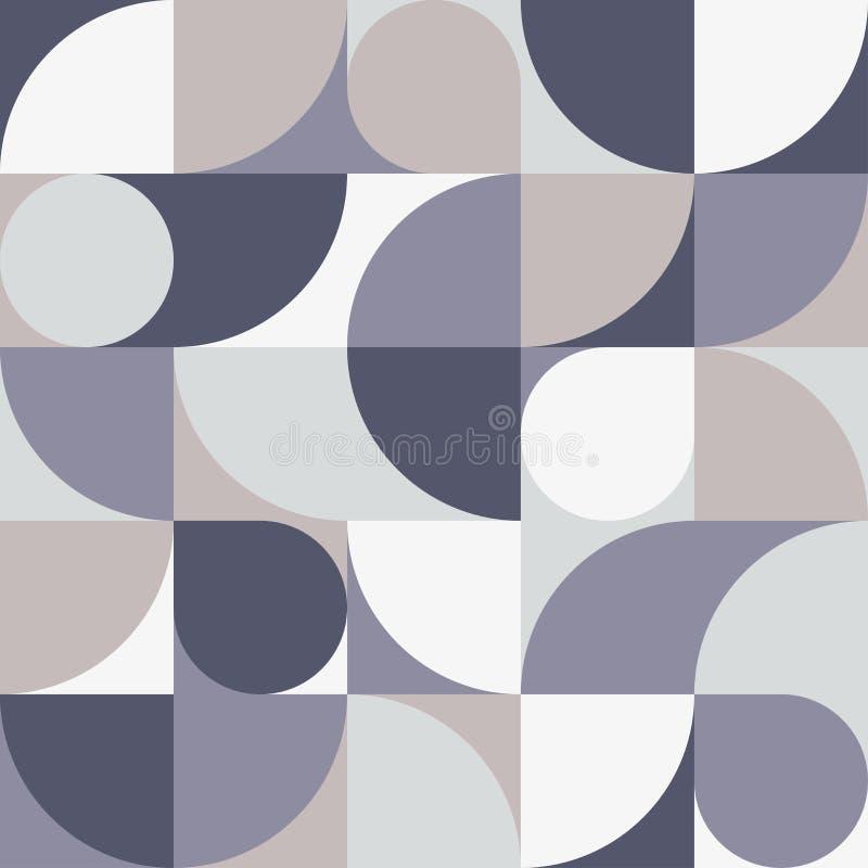 无缝的灰色淡色抽象几何印刷品 传染媒介多彩色插图 原始的几何样式 库存例证