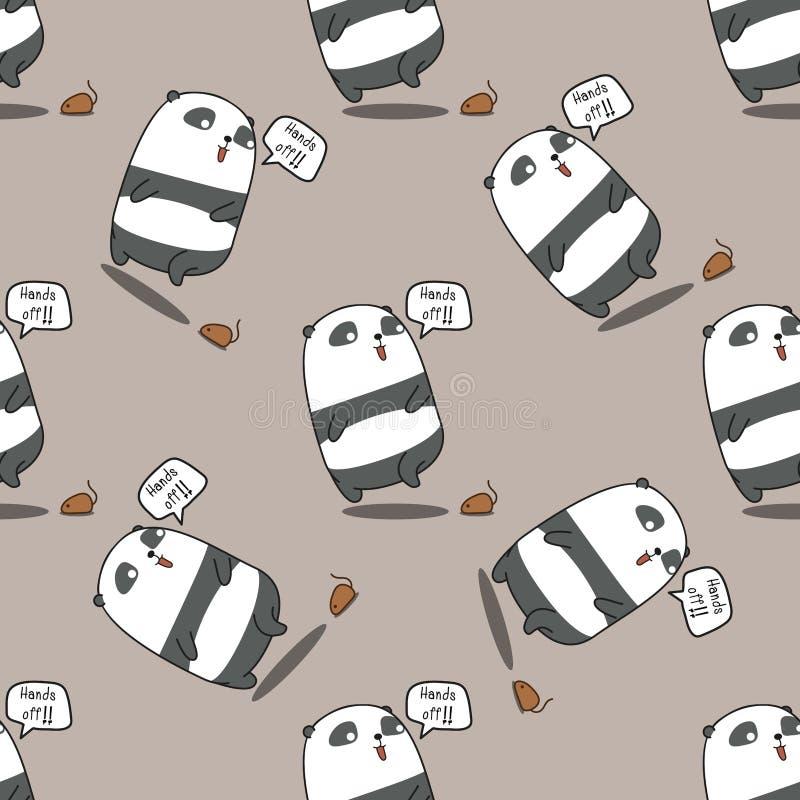 无缝的熊猫是震惊样式 向量例证