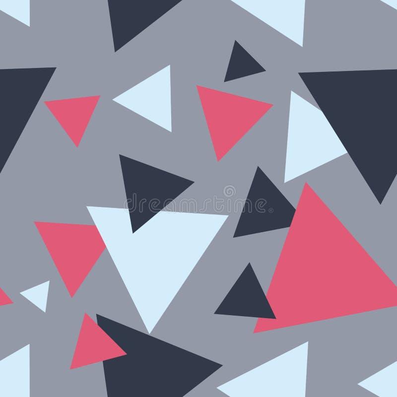 无缝的现代抽象灰色三角样式 皇族释放例证