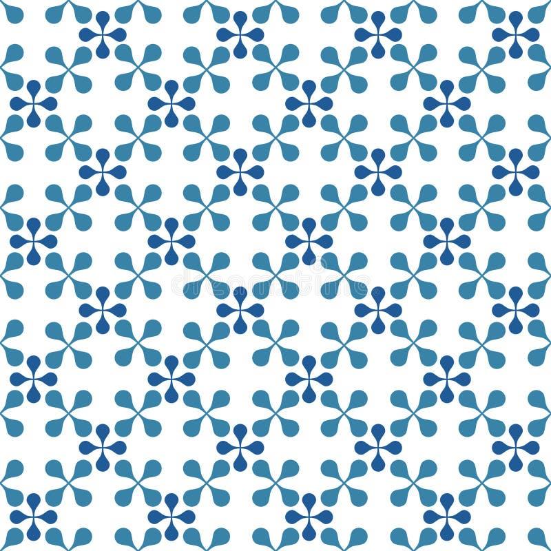 无缝的瓦片几何模式 向量例证