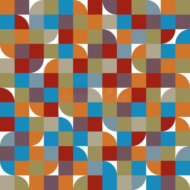 无缝的瓦片抽象背景,传染媒介背景 库存例证