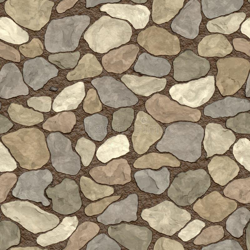 无缝的石墙 向量例证