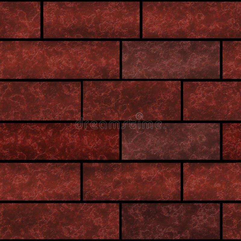 无缝的砖墙纹理石样式顶楼 免版税库存照片