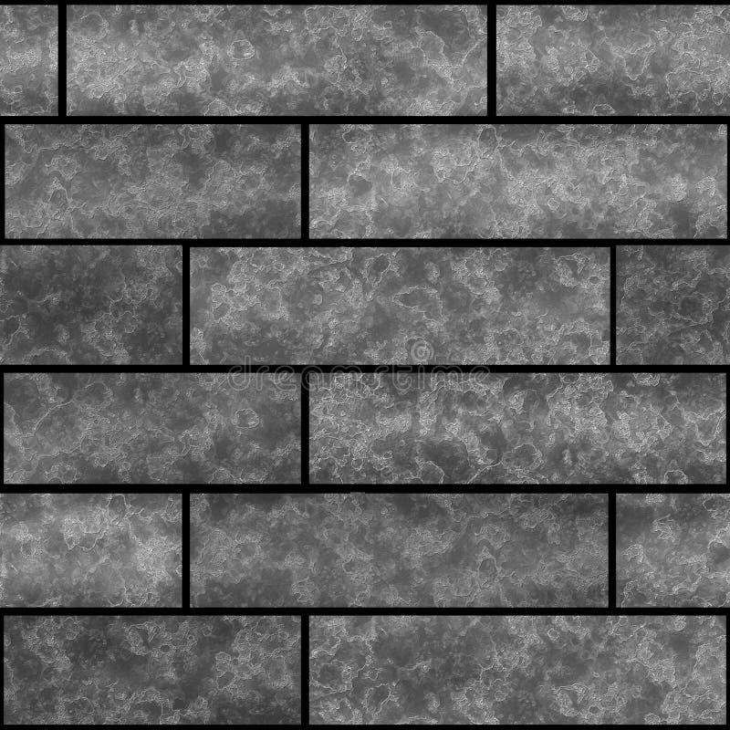 无缝的砖墙纹理石样式顶楼 免版税库存图片