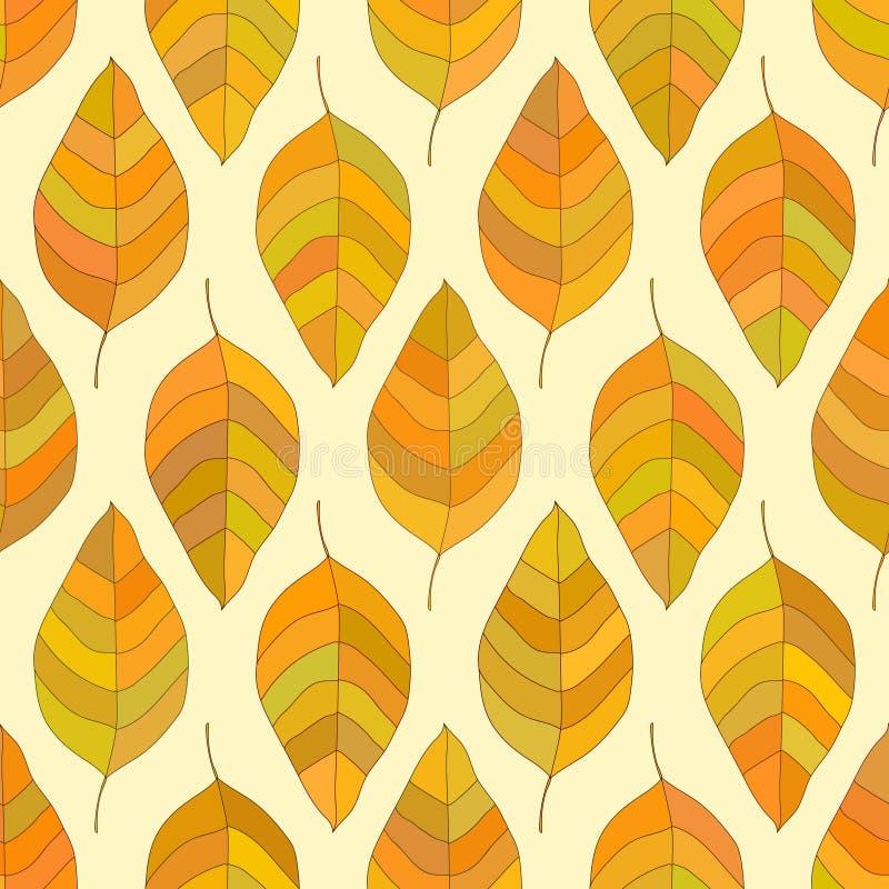 无缝的秋天纹理 免版税图库摄影