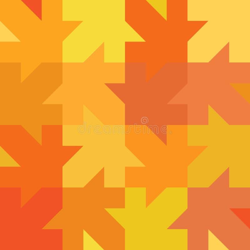 无缝的秋天纹理 库存图片