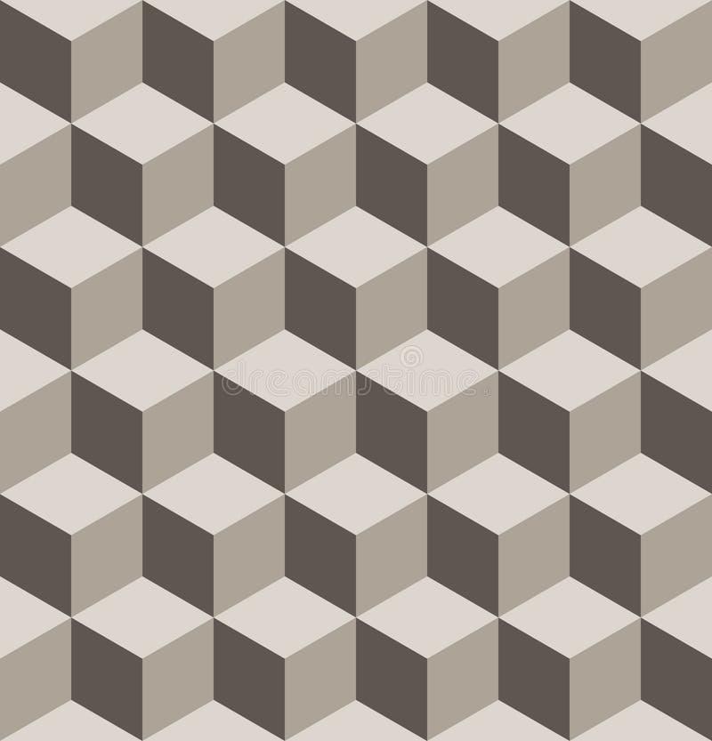 无缝的等量立方体样式 库存例证